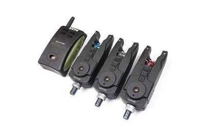 Sonik NEW SKS 3 Rod Bite Alarm Set + Receiver + FREE Bivvy Light