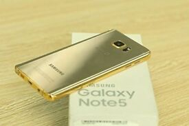 SAMSUNG GALAXY NOTE 5 UNLOCKED BRAND NEW CONDITION COMES WITH WARRANTY & RECEIPT