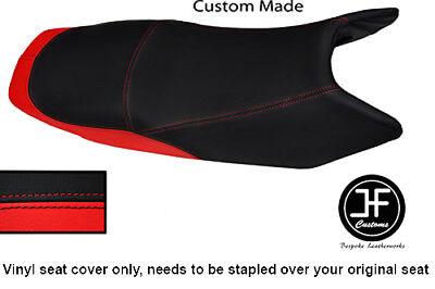 BLACK AND RED VINYL CUSTOM FITS <em>YAMAHA</em> YBR 10 13 125 DUAL SEAT COVER O