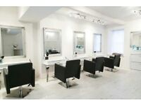 New furniture hairdressing white salon chairs manicure nail counter reception desk table backwash