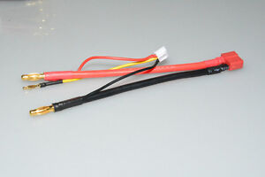 4mm Bullet Banana to Female Deans T-Plug LiPo Battery Lead Wire & JST-XH Balance