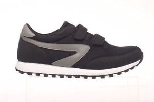 Mens-Shoe-Dunlop-Twin-Velcro-Sports-XLC-Black-Silver-or-Navy-Silver-New-UK-6-13