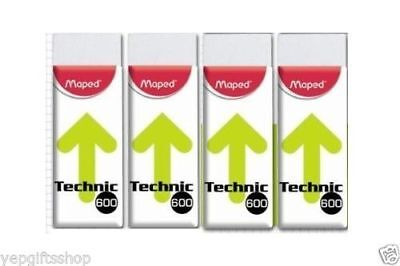 8-pack Maped Technic 600 Eraser For Pencil Charcoal Pastel