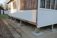 Leveling Post and Pad Cottages