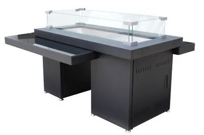 """AZ Patio Heaters GSF-RFP 32"""" Two Tiered Glass Top Fire Pit,"""