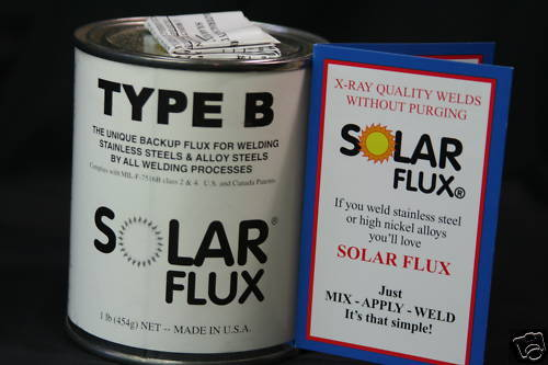 SOLAR FLUX TYPE B For Stainless Steel Welding, TIG MIG SMAW, FREE SHIPPING 1 lb.