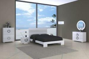 white queen bedroom set |  Furniture Stores (RW902)