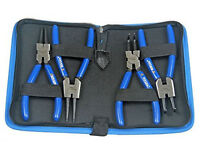 BERGEN Professional 4pc 6 Circlip Pliers Internal External Set in Canvas Case
