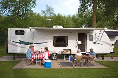 RV Amplified Antenna HDTV Digital Camper Motorhome Van TV Camping Tube VHF
