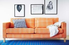IKEA Cover for Karlstad 3-seater sofa - Husie Orange 002.546.95