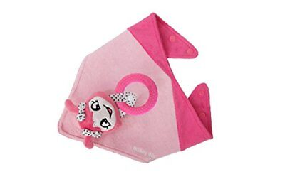 Malarkey Kids Buddy Sensory Teething Toy 3 -1 Bandana Drool Bib Pink Munch Mitt