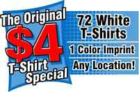 Custom T-Shirts as low as $4.00*