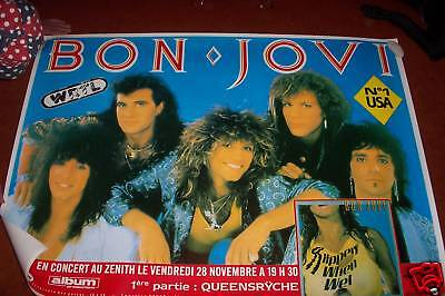 Huge   Bon Jovi Promo Poster 42X54 Made In England  Wrtl Jon