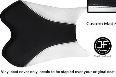 BLACK AND WHITE VINYL CUSTOM FOR <em>YAMAHA</em> 1000 YZF R1 FRONT SEAT COVER 0