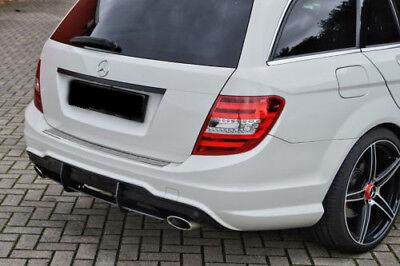 Cup Diffusor Ansatz für Mercedes C-Klasse W204 S204 11-15 AMG Line Cap Heck INE