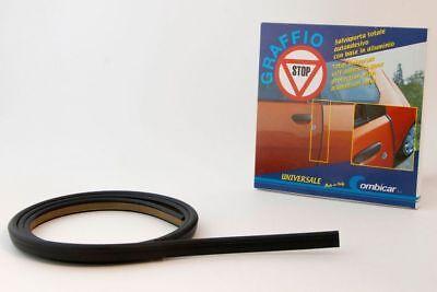 Salvaporta Gomma nero adesivo universale Proteggi carrozzeria portiera auto 1.4m