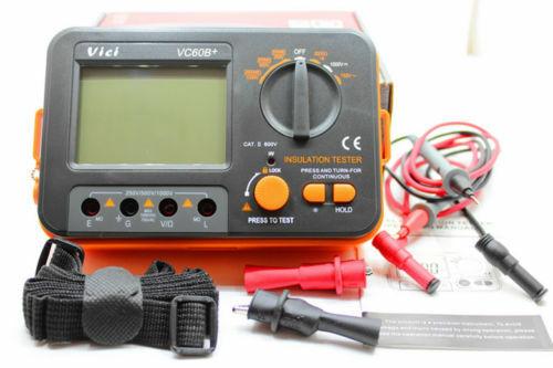Digital Insulation Resistance Test/Tester Megger MegOhm Megohmmeter Meters VC60