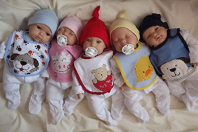 Babies in bibs Newborn Lifelike Reborn Baby Doll Girl Boy Birthday xmas gift