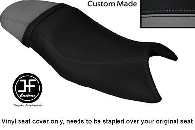 BLACK AND GREY VINYL CUSTOM FITS TRIUMPH SPEED FOUR 600 DUAL SEAT COVE