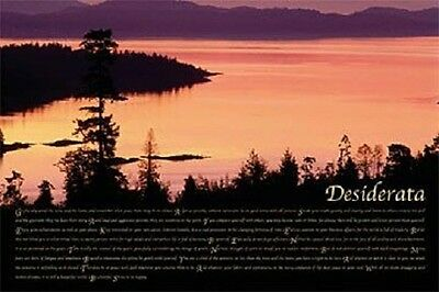 Desiderata Motivational Poster 24 X 36  Strive To Be Happy