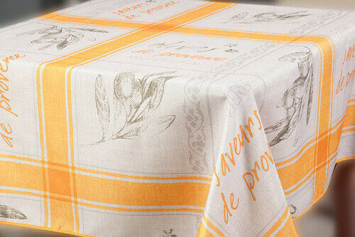 Water-Resistant Tablecloth Provence French Country Print Rec