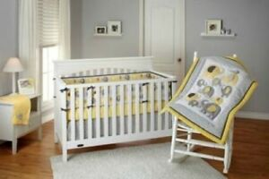 Little Bedding By NoJo Elephant Time 4-Piece Crib Bedding Set