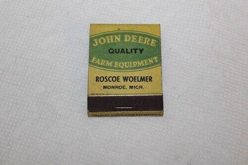 Vintage John Deere MatchBook ROSCOE WOELMER Quality Farm Equipment Book Matches