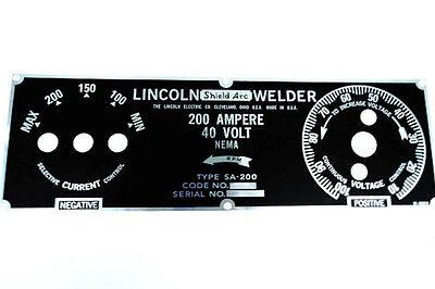 Lincoln Sa-200 5 Position Nameplate M8803 Bw688