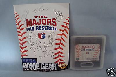 The Majors Pro Baseball Sega Game Gear Game w/manual