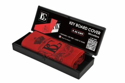 BG A66 KM9 Piano Keyboard Cover - Red Microfibre