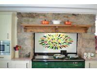Solid Oak Shelf/Range Cooker/Arga
