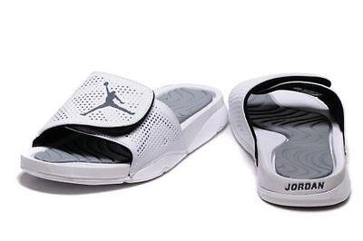Nike Air Jordan Hydro 5 Slides NEW Men Sz 12 Sandals Flip Flops 820257 120 White