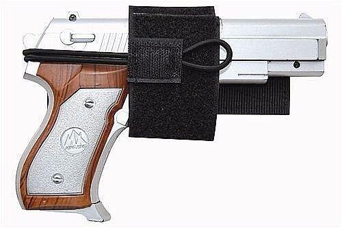 Black Universal Hook & Loop Gun Holster BB Airsoft Pistol Ha