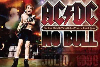 AC/DC - NO BULL - LIVE MUSIC POSTER - 24x36 ANGUS YOUNG 4750