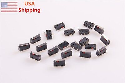 20Pcs KW11-1Z-0101 Momentary Lever Actuator Miniature Micro Switch Limit