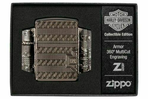 Zippo 49470, Harley Davidson 2021 Collectible, Black Ice Armor Lighter