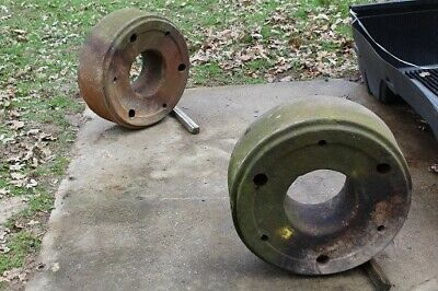 Pair Heavy Steel Rear Wheel Weights John Deere R 80 820 830 1125 Lbs Each