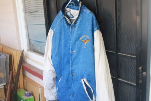 RARE Vintage Alaska Airlines Million Dollar Club,  jean jacket lined.Men