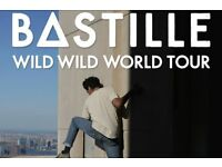4x Bastille standing tickets, London O2 Arena, Tuesday 1st November 2016