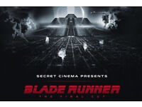 Secret Cinema Blade Runner 2x Orion tickets Friday 23rd March SOLD OUT DATE
