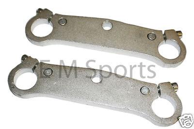 Mini Pocket Bike Crotch Rocket Triple Tree Fork Plate Parts 47cc 49cc Silver