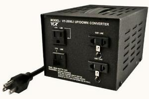 New VCT VT-2000J Japanese Step Up/Down Voltage Transformer Converts Japan 100V to 110V or Vice Versa-2000-watt