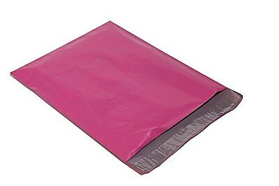 100 7.5x10.5 HOT PINK Poly Mailers Shipping Envelopes Couture Boutique Bags