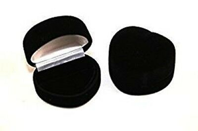 Wholesale Lot 144 Black Velvet Heart Ring Jewelry Packaging Display Gift Boxes
