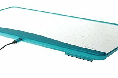 New Q-gadget KB01 Touchpad Glass transparent Keyboard From Japan