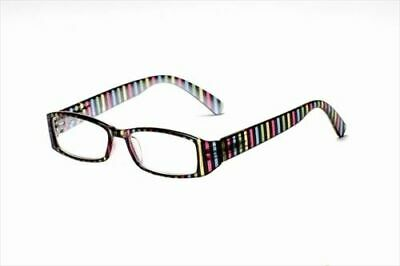 Women's Reading Glasses - 'Stripe' +1.50 - Free UK (Free Glasses Uk)