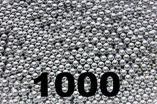 1000 ct Silver Zinc Plated Metal BBS 4.5mm (.177 Cal) Air Guns & Slingshots