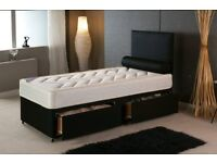 3Ft Single Bed 24cm M-Firm Orthopaedic Mattress BRANDNEW Headboard/Drawer Option Fast Delivery