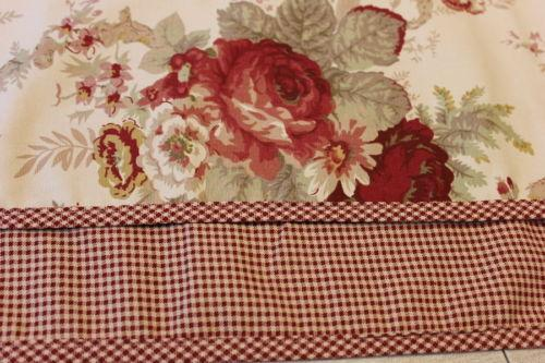 Red Check Curtains Ebay