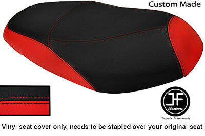 BLACK AND RED VINYL CUSTOM MADE FITS <em>YAMAHA</em> VITY 125 DUAL SEAT COVER O